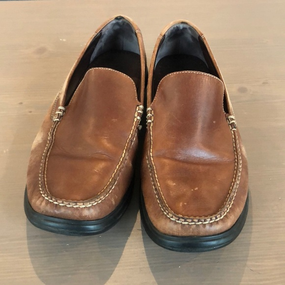 Cole Haan Brown Loafers With Nike Air